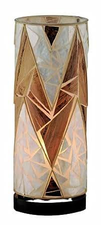 Paul Neuhaus 1994 Abuja - Lámpara de mesa (nácar), diseño de hojas secas de platanero