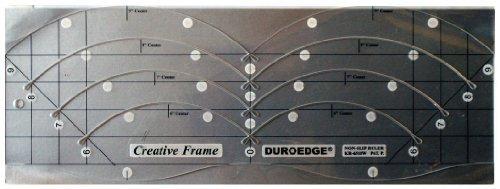 Duroedge Creative Frame Curves - Shape Cut, Non-Slip Slitted Ruler