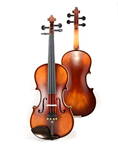 {US STOCK}Teekland Natural Solid Wood Satin Acoustic Beginner Violin (3/4, Natural Color)