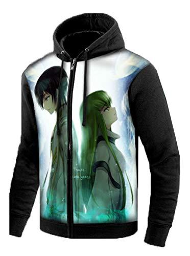 Gumstyle Code Geass C.C. Anime Zip Hoodie Jacket Adult Cosplay Luminous Sweatshirt 2-M (Code Geass Contacts)