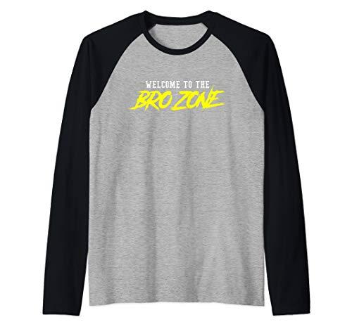 Mens Welcome To The Bro Zone Fraternity Frat Boy Shirt College Raglan Baseball Tee