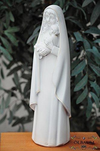12 - 13 cm, mármol blanco (mattlackiert), virgen María Virgen Madre de Dios con niño, Madonna como símbolo de inocencia y unbefleckter empfängnis - Todos ...