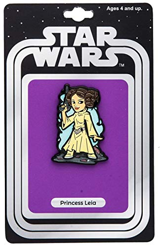Star Wars Official Princess Leia Pin | Exclusive Art Design by Derek Laufman Series Collectors Pins Gold