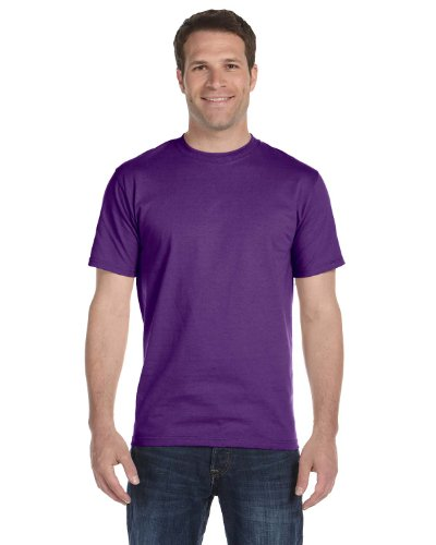 Gildan mens DryBlend 5.6 oz. 50/50 T-Shirt(G800)-PURPLE-5XL by Gildan