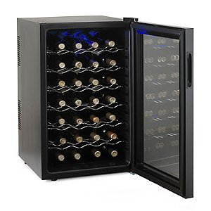 Wine Enthusiast 272 03 29 Silent 28 Bottle Touchscreen Wine Cooler, Black