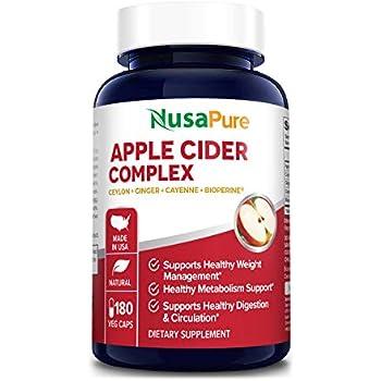 Amazon.com: Organic Apple Cider Vinegar Pills 1800mg 180