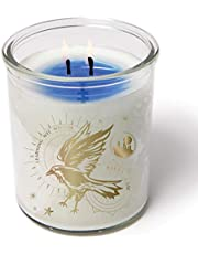 Harry Potter Color Changing Ravenclaw Candle, 10 oz - Votive Candle Turns from White to Blue When Lit - Soy Wax, Unscented