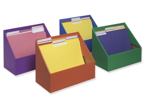 Pacon Classroom Keepers Folder Holders 4-pack, Assorted Colors (001328)