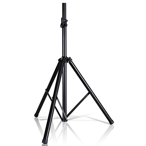 "Universal Speaker Stand Mount Holder - 6'ft Heavy Duty Tripod w/Telescoping Height Adjustment 40"" to 71"" 35mm Compatible Insert Knob Style Lock Perfect for On-Stage or In-Studio Use - Pyle AZPSTND2 by Pyle"