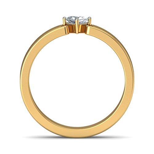 14K Or jaune, 0.145CT TW Diamant Blanc (IJ | SI) en diamant