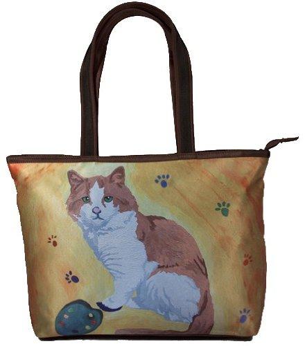 Cat Shoulder Bag, Vegan Tote Bag - Animal Prints - Yes, S...