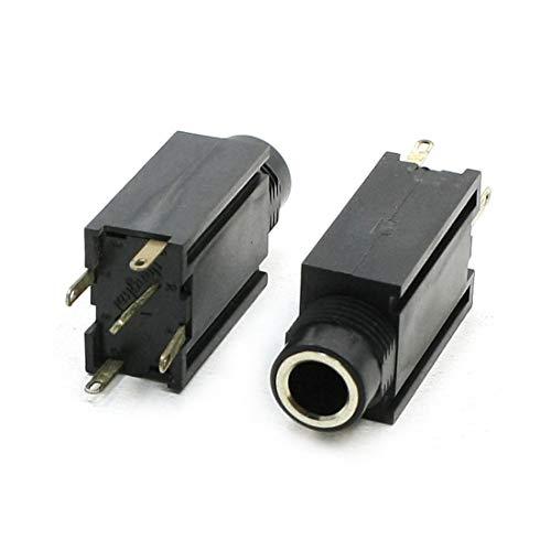 FidgetFidget MP4 Headphone 5 Pin PCB 6.5mm Audio Stereo Jack Socket 2 ()