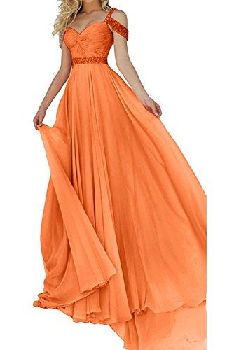 Chiffon Ballkleider La Abendkleider Langes Marie Damen Braut Festlichkleider Kleider Orange Jugendweihe 16np7pIq