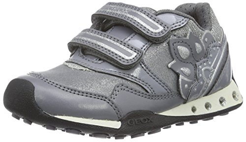 Geox J New Jocker Girl 38 Sneaker Grey 31 EU(13 M US Toddler)