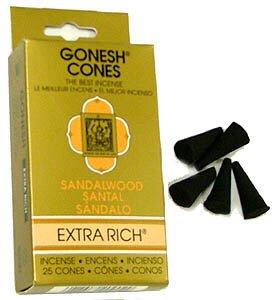 サンダルウッド – Gonesh Incense Cones – パックof 25 B001B66OYS