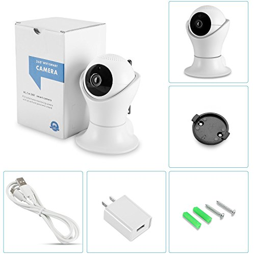 Vanxse CCTV 2.0MP 1080P IR Night Vision WIFI Wireless Pan/Tilt Network IP Camera webcam Remote View For Home Security and Surveillance(DLS002) by Vanxse (Image #3)