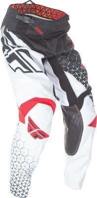 Fly Racing Unisex-Adult Kinetic Trifecta Pants (Black/White/Red, Size 26)