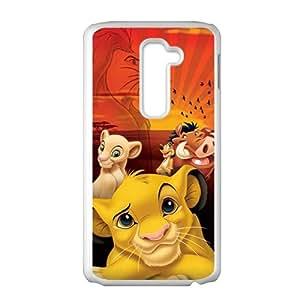 Cartoom Lion King White Phone Case for LG G2