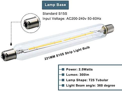 LED 30W Eq 300 Lumens 2.5w 221mm Strip Light Warm White Bulb Lamp Energy Saver