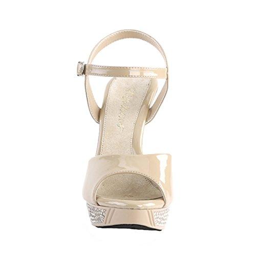 Sintetico Donne Delle Sandalo Crema Crema Elegante Fabulicious Pat qHqrC