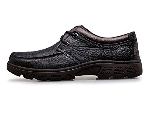 Britische Große LINYI Spitze Braun Größe Verschleißfeste Schwarz Weiche Herren Bottom Black Casual Schuhe Business z06qzwA