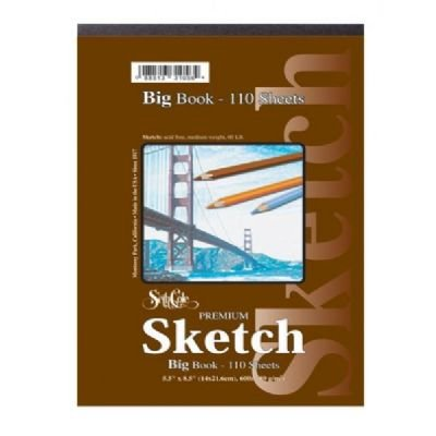 Premium Sketch Spiral Side Big Book (55 Sheets) Size: 11 x 14 by Seth Cole