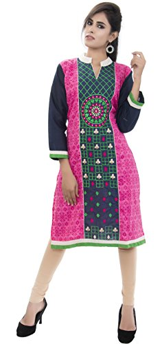 Kurti indian women clothes designer tunic cotton printed kurti amba clothing