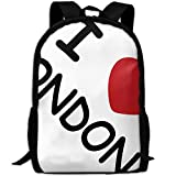ZQBAAD I Love London Luxury Print Men and Women's Travel Knapsack