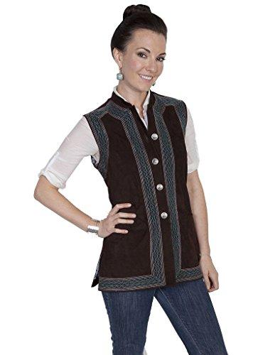 テレビ局筋肉のつまずくScullyレディースLiza Premium Ultra Soft Suede Vest