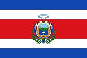magFlags Large Flag Costa Rica since 1848 | landscape flag | 1.35m² | 14.5sqft | 90x150cm | 3x5ft - 100% Made in Germany - long lasting outdoor flag
