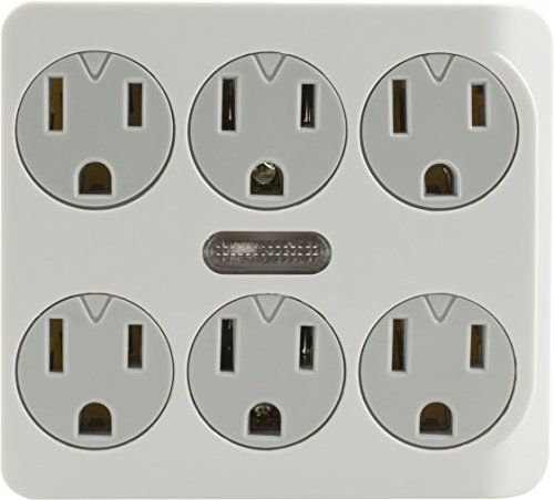 GE 14470 Six Outlet Grounded Power