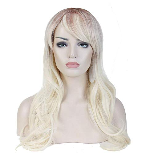 Cosplay Wig Synthetic Long Natural Straight Side Part Line Pink Purple Women Hair Costume Carnival Halloween Party Salon Hairpie 606 28inches