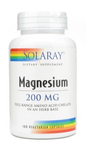 Solaray - magnésium, 200 mg, 100