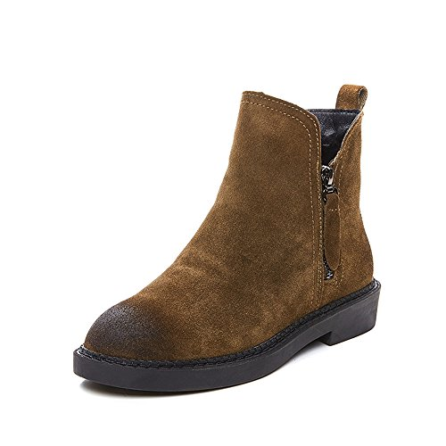 sexy Martin Boots Flat Thickening Keep Warm British Style Outdoor Women's Shoes (Color : B-THICK, Size : EU39/UK6/CN39) C-thick
