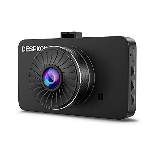 Dash Cam, DESPKON 1296P FHD Car DVR Dashboard Camera with 3.0 LCD Screen 170