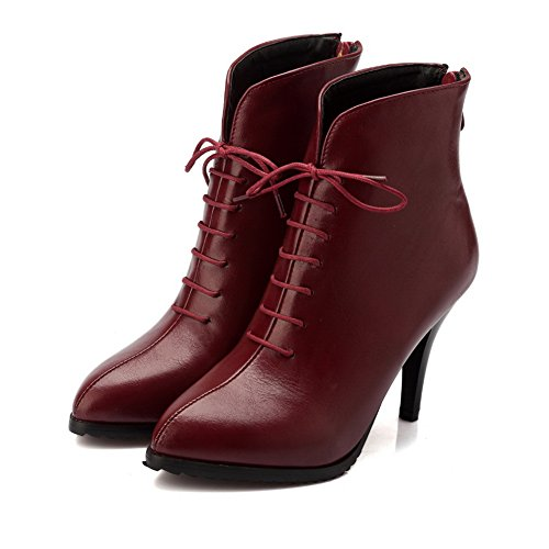 Bandage Pinker Boots Winkle Claret amp;N Stiletto A Girls Imitated Leather qwXaE8fn7