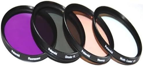PEN E-P3 E-M10 E-M1 GX1 Digital SLR Cameras Which Has The ZUIKO Digital ED 14-42mm Micro 4//3 Zo PEN-E-PL3 Polaroid Optics 4 Piece Filter Set E-P5 PEN-E-PL5 E-PM1 PEN E-PL1 E-PL2 PEN E-P2 E-PM2 UV, CPL, FLD, WARMING For The Olympus OM-D E-M5