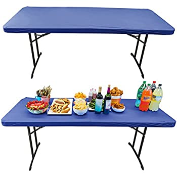 Houseables Elastic Table Cover, Fitted Tablecloth, 6 Foot, 30 X 72 Inch, 50  Pack, Blue, Vinyl, Rectangle Tablecover, Stay Put, Plastic Disposable Top  Covers ...