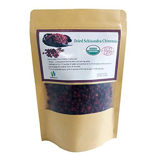 Nature Organic Schisandra Berries Dried Loose Bulk Herbs Schisandra Chinensis (Wu Wei Zi)Tea