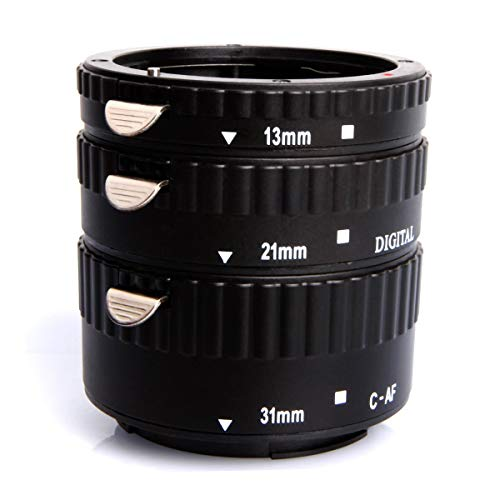 Mcoplus EXT-CP Auto Focus AF Macro Extension Tube Set Lens Adapter Ring for Canon EOS EF EF-S SLR Cameras Lens Adapter Ring(3 Pieces-13mm 21mm 31mm)