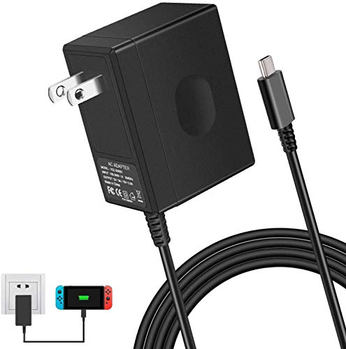Nintendo Switch AC Adapter - CTPOWER [ENHANCED VERSION] Nintendo Switch Charger with Type C Fast Charging kit(5 FT/1.5M)