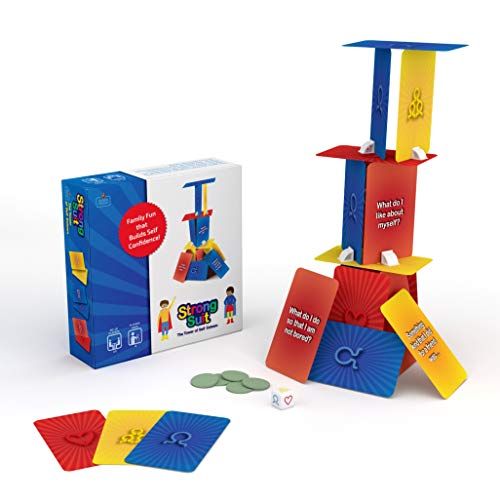 StrongSuit - The Tower of Self Esteem, Therapy Card Game For Kids 6+, Boost Self Confidence and Social Skills with Creativity, Problem Solving, Teamwork - Used by Therapists and Parents, 2-5 Players (Easy Card Games To Play By Yourself)