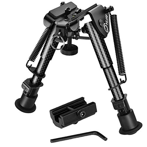 CVLIFE 6-9 Inches Carbon Fiber Rifle Bipod with Picatinny Adapter ()