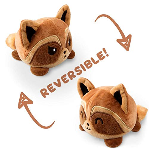 TeeTurtle Reversible Raccoon Mini - Brown Plush Toys