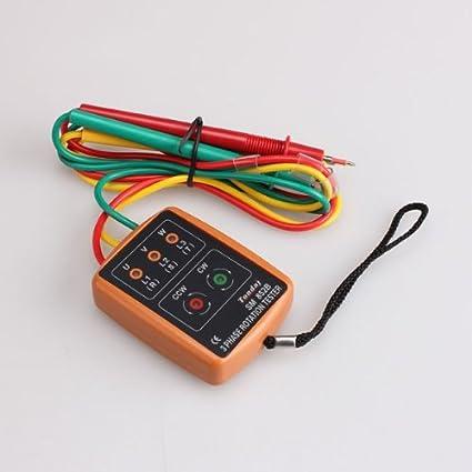 Detector Tester secuencia de rotación SM852B 3 fases con indicador LED Nuevo