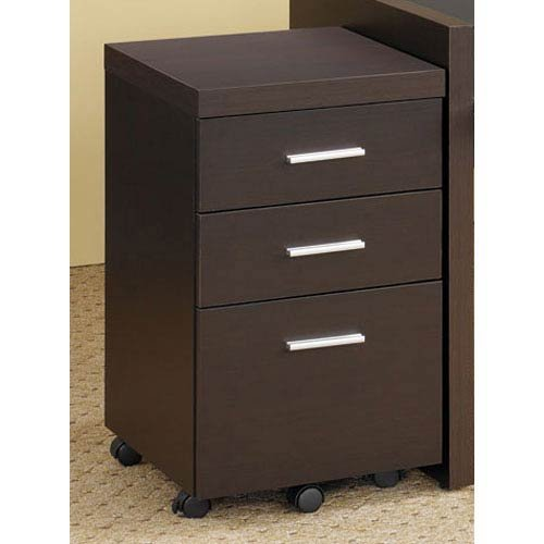 Skylar 3-Drawer Mobile File Cabinet Cappuccino Coaster 800903