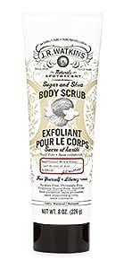 J.R. Watkins Natural Sugar & Shea Body Scrub, Coconut Milk & Honey, 8 Ounce