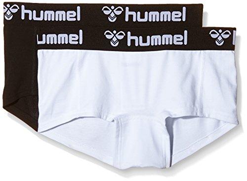Hummel mujeres hotpants Hers , 2 paquete Mini Shorts Varios colores - blanco/negro