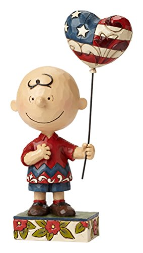 Jim Shore for Enesco Peanuts Patriotic Charlie Brown Figurine, 9