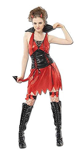 Ladies Hot Devil Halloween Outfit Women Hen Night Stag Party Fancy Dress -